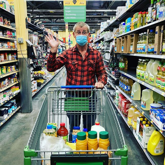 man in the grocery store